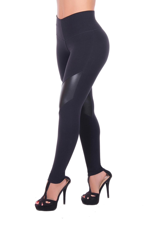 Black sports leggings with internal body shaper by Bon Bon Up