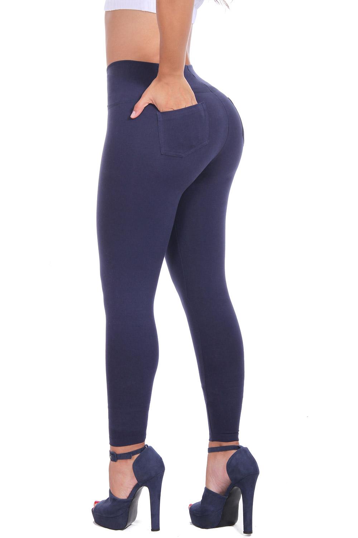 Bon Bon Up Women's Cotton Leggings with Internal Shaper Pockets and Butt Lifter, Various Styles